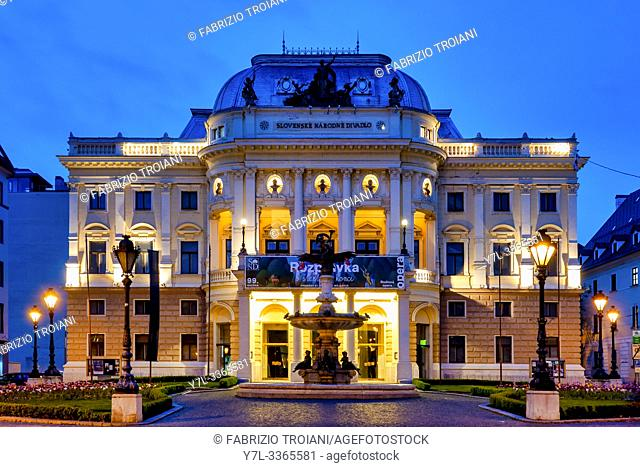 The old Slovak National Theatre building ,Bratislava, Slovakia