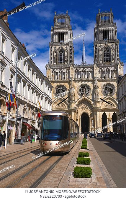 Orleans, Ste. Croix Cathedral, Orleans, Jeanne d'Arc street, Loire Valley, UNESCO World Heritage Site, Loiret department, Centre region, France, Europe