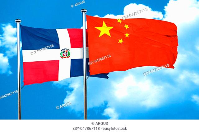Flag dominican republic china Stock Photos and Images   age