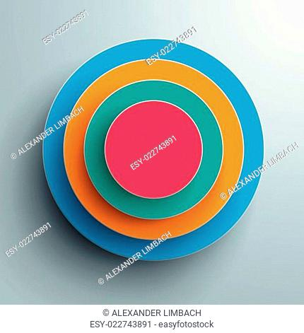 Colored Ring in Rings Infographic PiAd