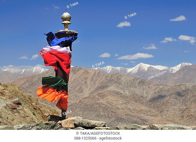 Desolate mountain view at Hemis where Buddhist highlander live. Jammu and Kashmir, India