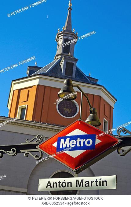 Anton Martin metro station exterior, Madrid, Spain