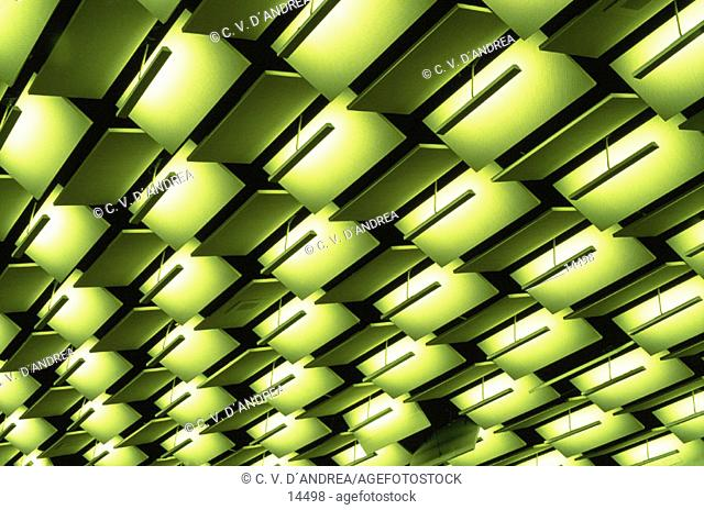 Green ceiling pattern