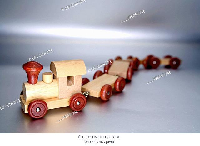 Toy wooden train