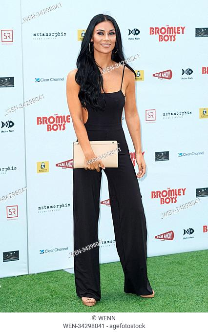 Cast and celebrities attend the world premiere of Bromley Boys held at Wembley Stadium, London Featuring: Cally Jane Beech Where: London