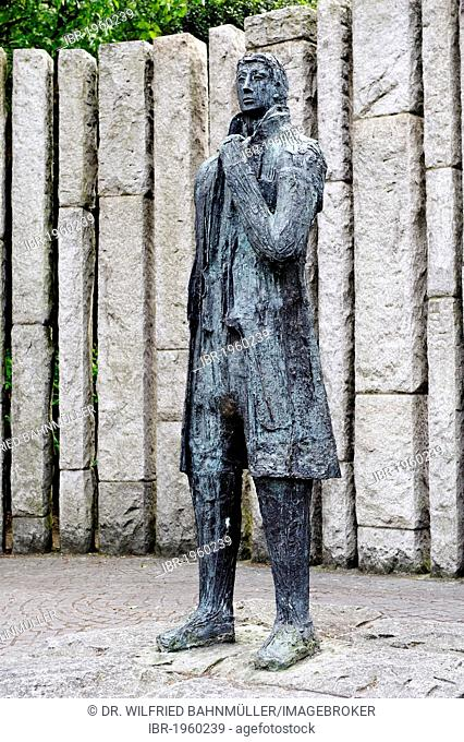 Wolfe Tone, 1763 - 1798, Irish freedom fighter, memorial, St. Stephan's Green, Dublin, Republic of Ireland, Europe, PublicGround