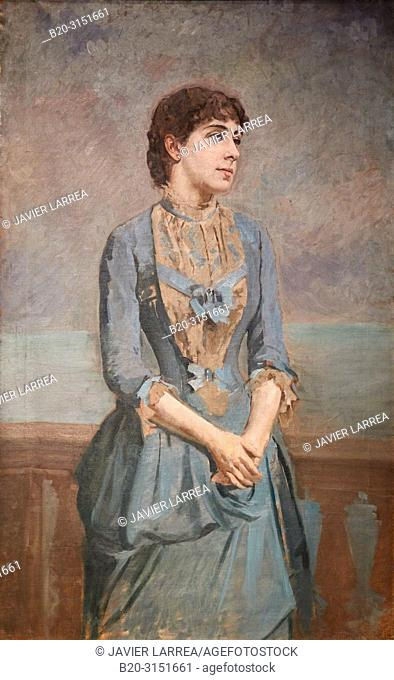 """""""Portrait of Lluisa Dulce i Tresserra, Marquise of Castellflorite"""", c. 1885, Antoni Caba, National Museum of Catalan Art, Museu Nacional d Art de Catalunya"