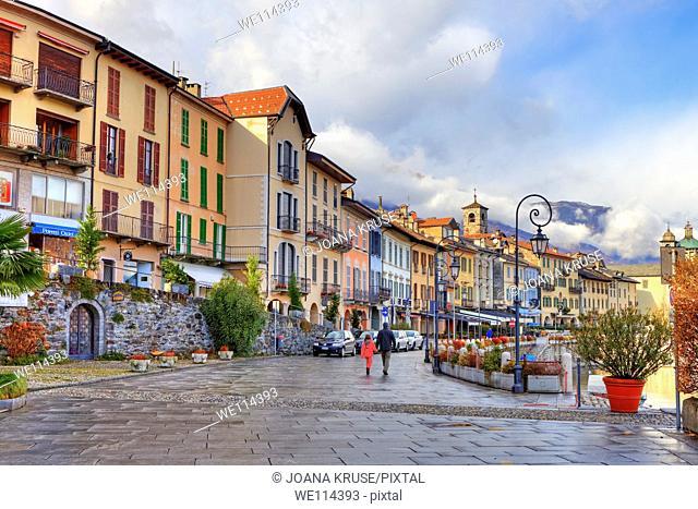 Promenade of Cannobio, Verbania, Piedmont, Italy