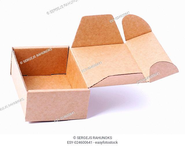 Carton box on a white background