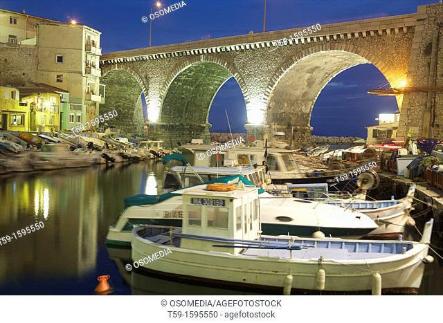 Hafen Vallo des Auffes, Marseille, Cote d Azur. France