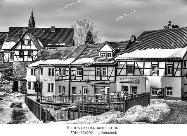 Gernrode im Harz, Straße im Winter