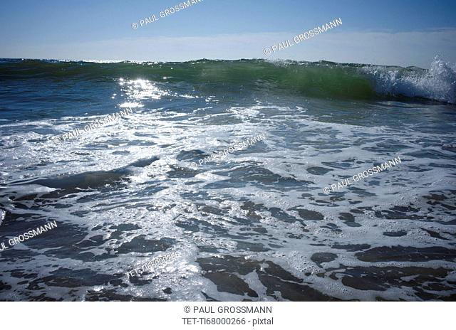Waves on sunny day