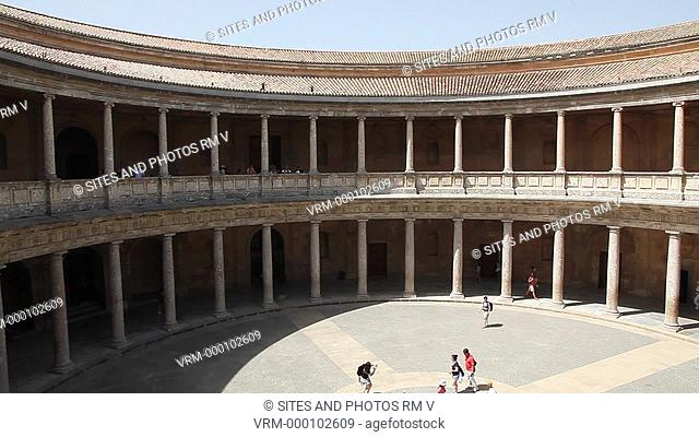 PAN, HA, exterior, daylight. The elected Emperor Charles Carlos V commissioned the construction of the palace in 1526 following the Roman style