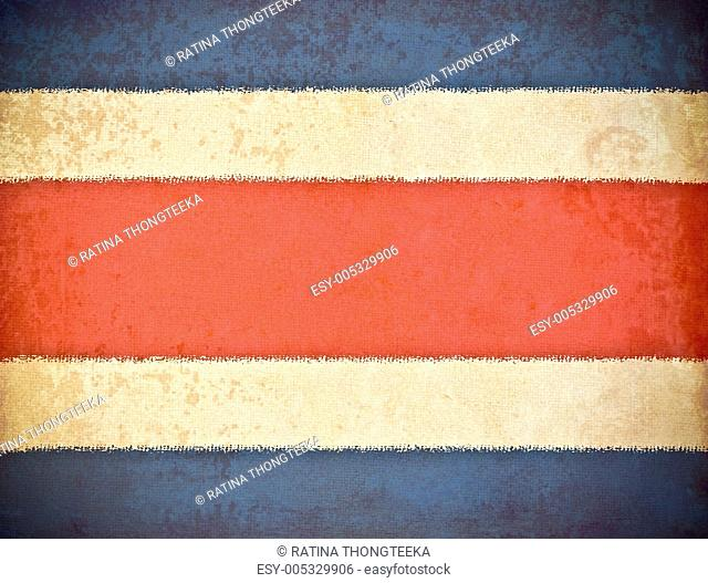 old grunge paper with Costa Rica flag background