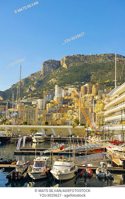 Cityscape and the Port in Monte Carlo in Provence-Alpes-Côte d'Azur, Monaco