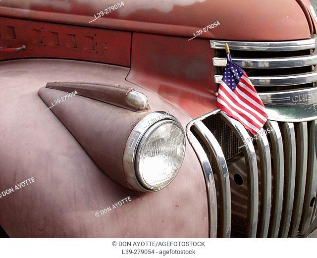 Truck shot on Orange Street. Nantucket. Massachusetts. USA