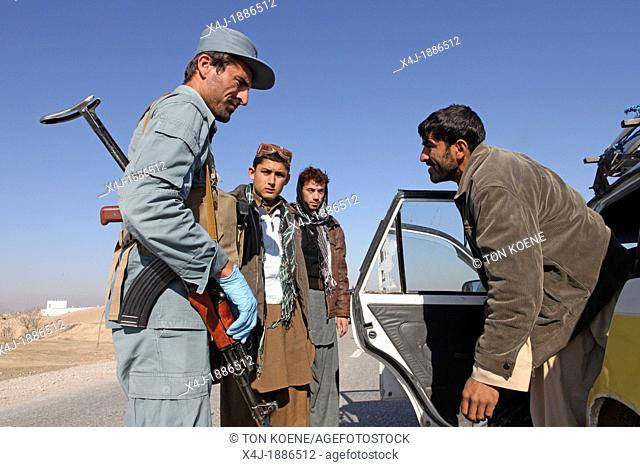 Afghan police being trained by Dutch military in Kunduz, Afghanistan