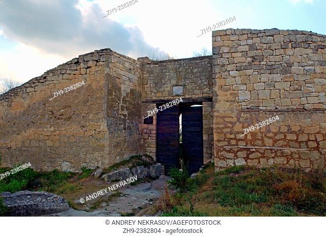 Çufut Qale, Chufut-Kale (Jewish Fortress), cave city. Crimea, Ukraine, Eastern Europe