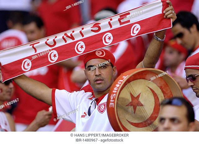 Tunisian football fans at the World Cup 2006 in Germany