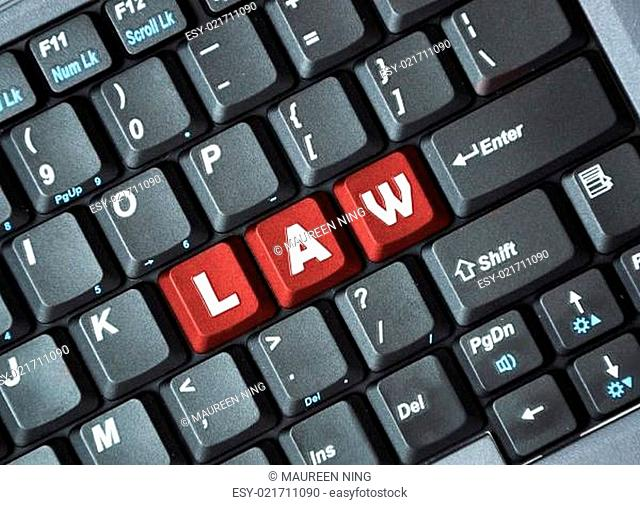 Law on keyboard