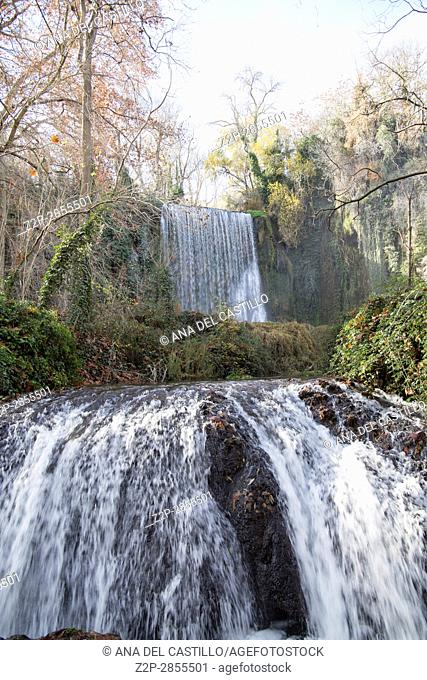 Cascades in Monasterio de Piedra Natural Park, Zaragoza, Aragon, Spain