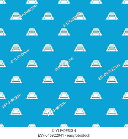 Railway pattern vector seamless blue repeat for any use