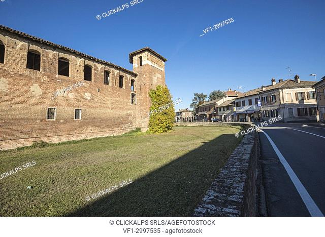 Scaldasole, Province of Pavia, Lombardy, Italy. The Old Castle of Scaldasole