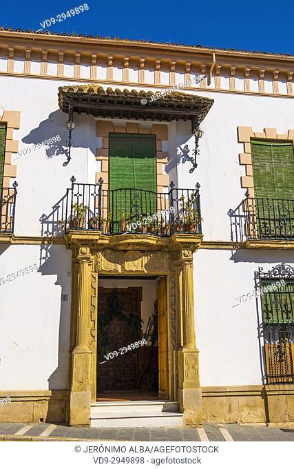 Palace house, Ronda. Málaga province Costa del Sol, Andalusia. Southern Spain Europe