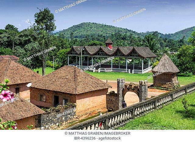 Traditional village Chefferie of Bafut, Chefferie de Bafut, part of the Royal Palace, UNESCO World Heritage Site, Bamenda, North-West Region, Cameroon