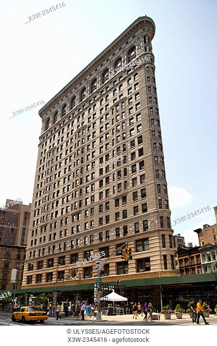 flatiron building, skyscraper, midtown, manhattan, new york, usa, america