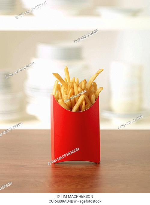 French fries in carton