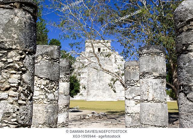 The Pyramid of Kukulkan, Chichen Itza, Yucatan, Mexico
