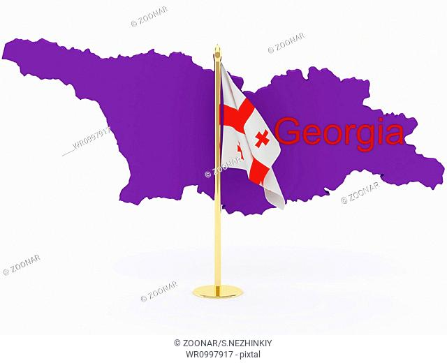 Georgia flags and map