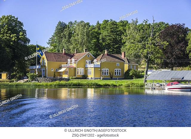 View across the Dalsland Canal in Haverud, Sweden