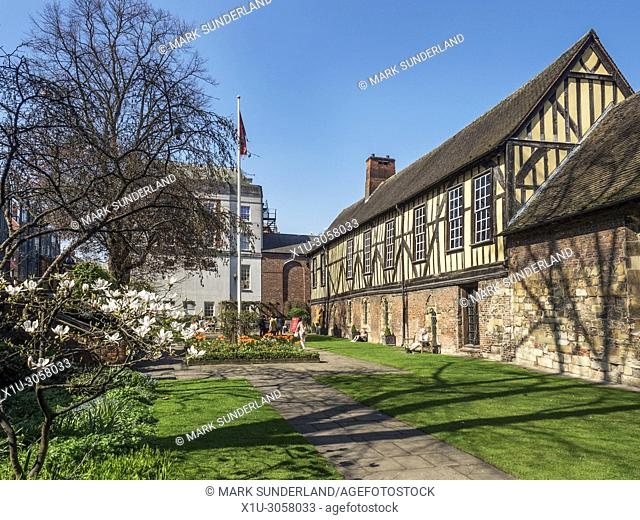 The Merchant Adventurers Hall a historic medieval guildhall in York Yorkshire England