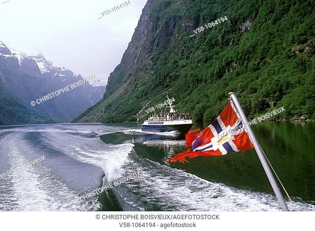 Cruise on the Aurlandsfjord, Hordaland, Norway