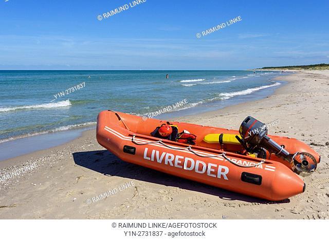 Lifeguard Rescue Dinghy, Rørvig, Rorvig, Odsherred, Zealand, Denmark