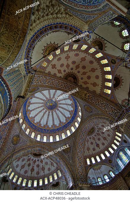 Main Dome, Sultan Ahmed Mosque Blue Mosque, Istanbul, Turkey