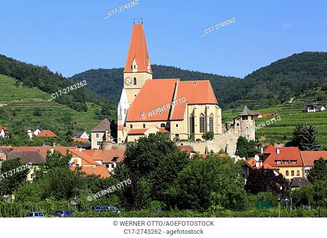 Austria, Lower Austria, A-Weissenkirchen in der Wachau, Danube, Wachau, Waldviertel, Saint Mary Himmelfahrt Church, fortified church, catholic parish church