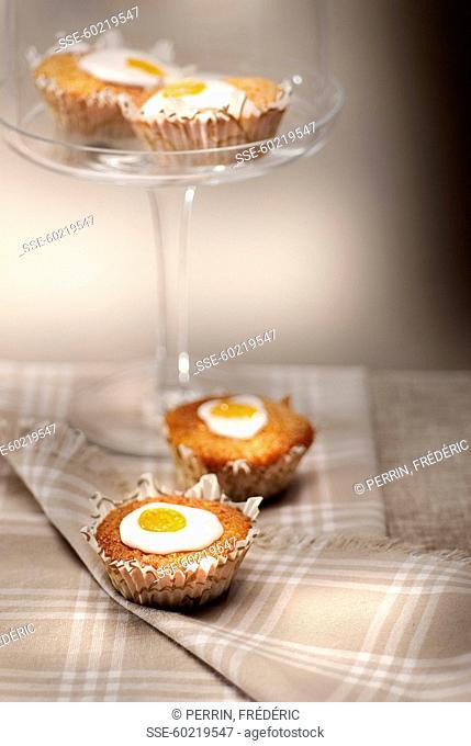 Ginger and kumquat cupcakes