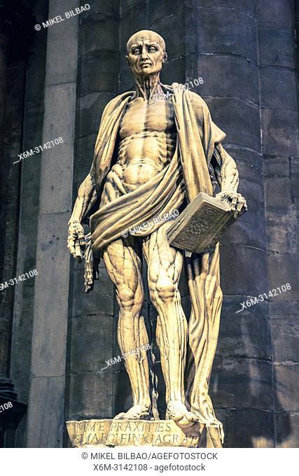 Saint Bartholomew. Milan Cathedral. Milan, Lombardy, Italy, Europe