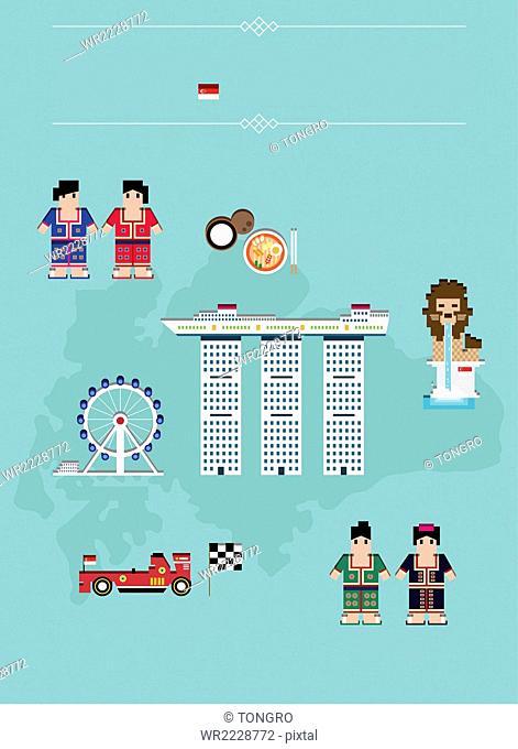 Global landmarks in Singapore