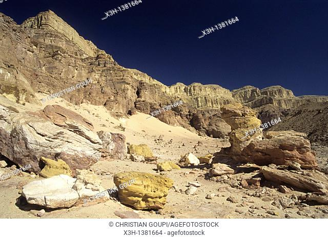colored sandstone, Timna Valley Park, Negev, Israel, Middle East, Western Asia