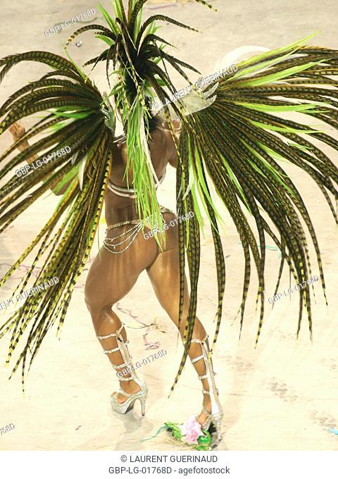 Graciane Barbosa, Queen of Battery, Carnival 2009, School of Samba Mangueira, Rio de Janeiro, Brazil