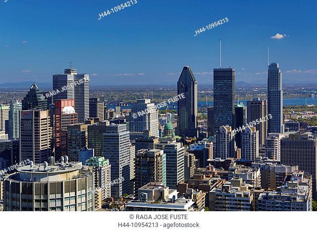 Autumn, Canada, North America, Montreal, Quebec, architecture, city, colours, downtown, hill, landscape, skyline, skyscrapers, touristic, travel