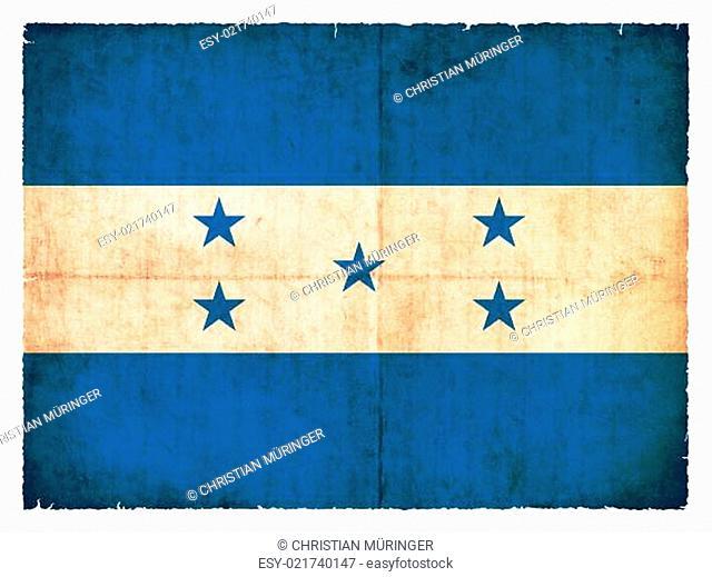 Grunge-Flagge Honduras