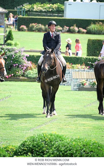 Mary Kate Olsen , Gary Cohn, Domingo Zapata, and Domenico Vacca attend Hampton Classic Horseshow Featuring: Mark Badgley Where: Bridgehampton, New York