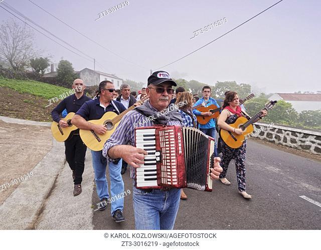 Cortejo do Espirito Santo, Holy Spirit Festivity Procession, Sao Jorge Island, Azores, Portugal