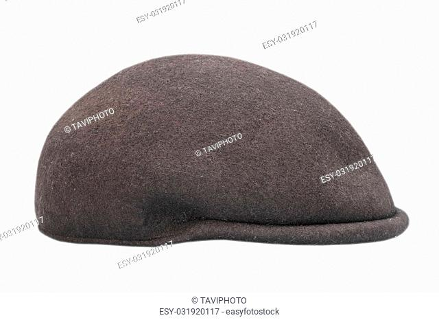 87198faab1712 black braided cap isolated over white background