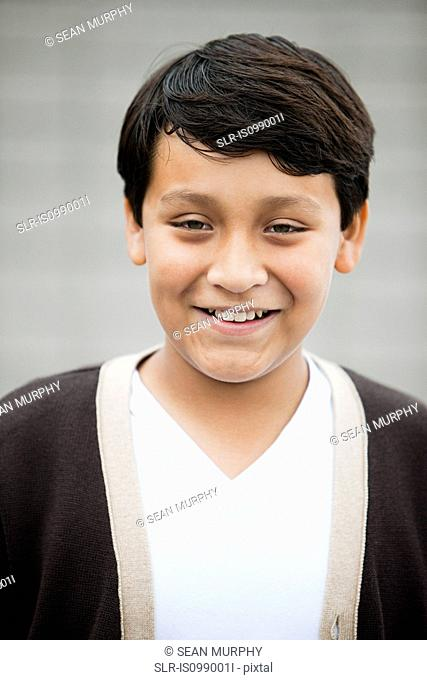 Boy smiling to camera, portrait